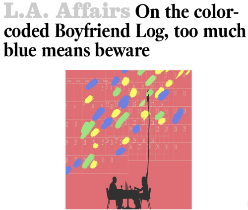 Bliss, then Came the Blues: L.A. Times article on The Boyfriend Log