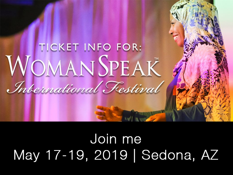 Join me in Sedona at the WomanSpeak Festival